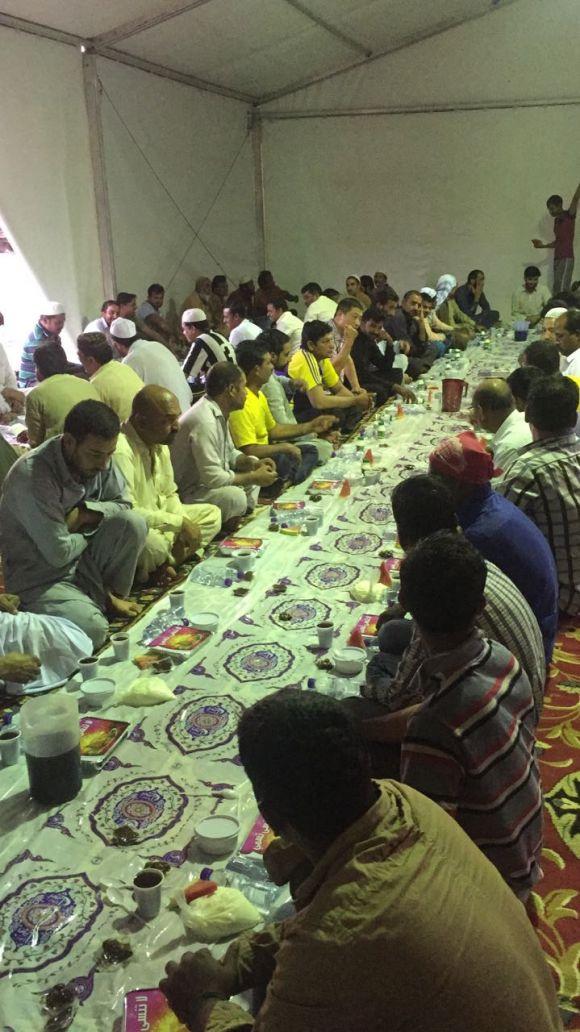 مشروع إفطار صائم لعام 1438هـ بجمعية البر الخيرية بمدينة فيد